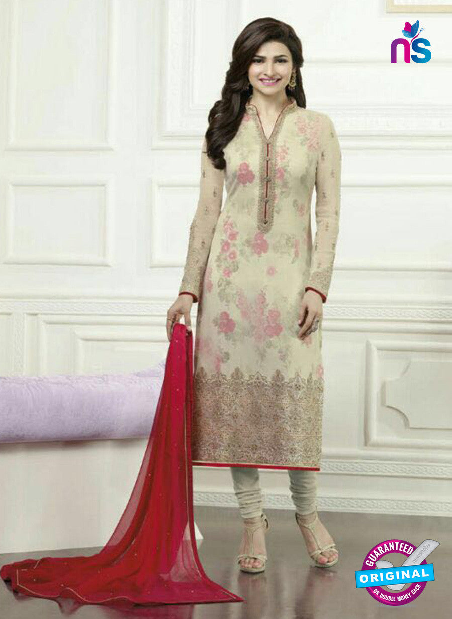 Vinay Fashion 3571 Beige and Pink Georgette Party Wear Suit