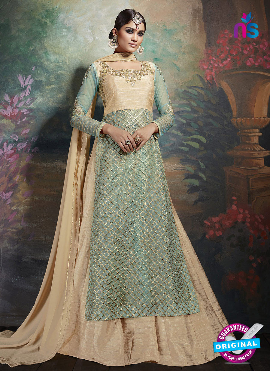 Vishal Monarch 3582 Sky Blue Silk Pakistani Suit