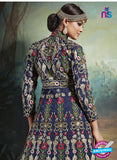 AZ 3736 Blue Art Silk Indo Western Suit