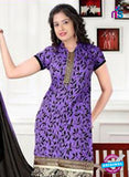 NS12272 Purple and Black Chudiddar Suit