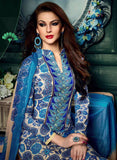 NS11624 Blue Color Cotton Designer Suit
