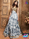 Maskeen 3603 Blue Banarasi Silk Anarkali Suit