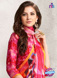 AZ 2231 Multicolor Satin Georgette Fancy Printed Saree - Sarees - NEW SHOP