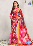 AZ 2231 Multicolor Satin Georgette Fancy Printed Saree