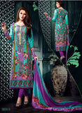 NS11628 Purple & Sea Green Color Cotton Designer Suit