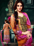 NS11629 Pink & Orange Color Cotton Designer Suit Online