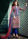 NS11630 Blue Color Cotton Designer Suit