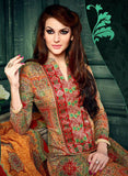 NS11631 Red & Multi Color Cotton Designer Suit
