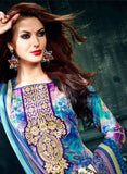 NS11633 Blue Color Cotton Designer Suit Online