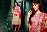 NS11634 Beige & Red Color Cotton Designer Suit