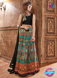Maskeen 3608 Multicolor Crepe Anarkali Suit