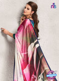 AZ 2238 Pink and Multicolor Satin Georgette Fancy Printed Saree - Sarees - NEW SHOP