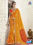 AZ 2253 Yellow and Orange Georgette Party Wear Saree