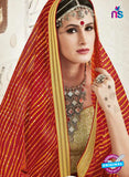AZ 2255 Red and Yellow Georgette Party Wear Saree - Sarees - NEW SHOP