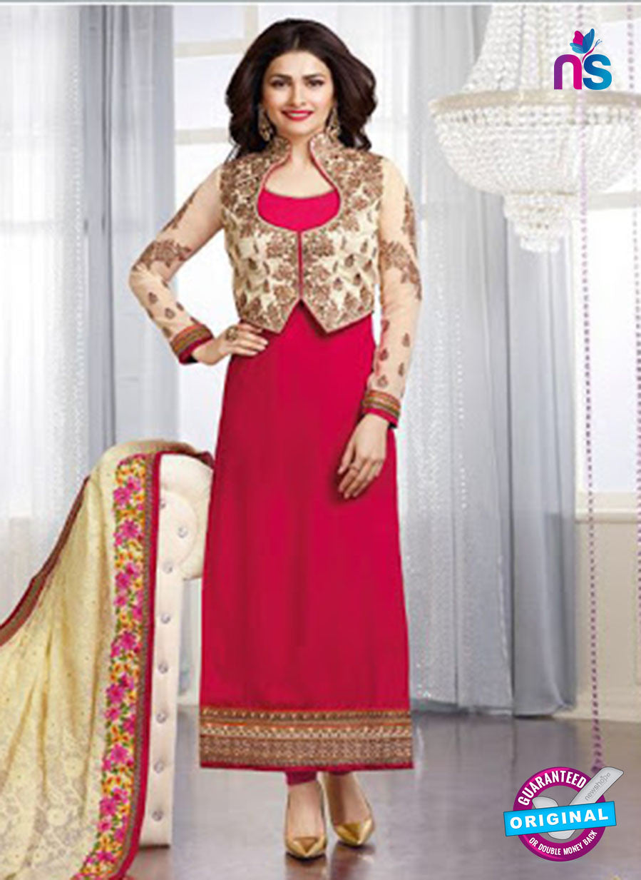 Vinay Fashion 3661 Pink And Beige Georgette Party Wear Suit