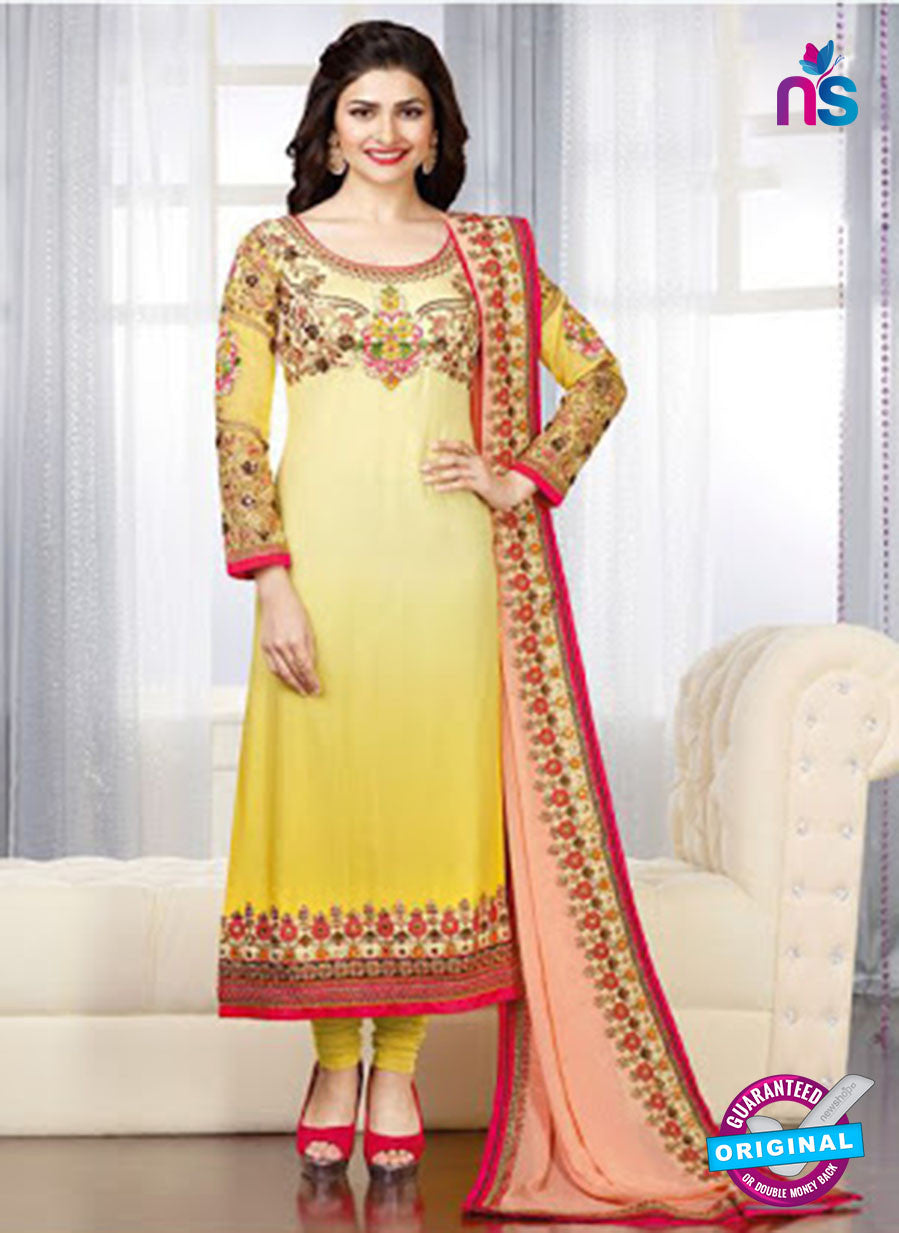 Vinay Fashion 3662 Yellow And Black Georgette Party Wear Suit