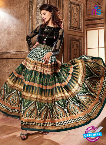 Maskeen 3703 Multicolor Crepe Anarkali Suit