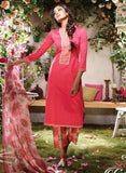 Ganga 3724 Red Color Glace Cotton Designer Suit
