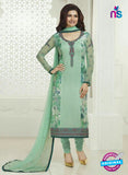 3752 Green Embroidered Georgette Party Wear Straight Suit