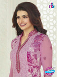 Vinay Fashion 3754 Purple Embroidered Georgette Party Wear Straight Suit Online