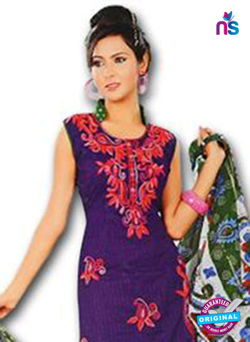 NS12274 Purple and Green Salwar Suit