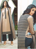 Ganga 3801 Black & Beige Color Pashmina Designer Suit