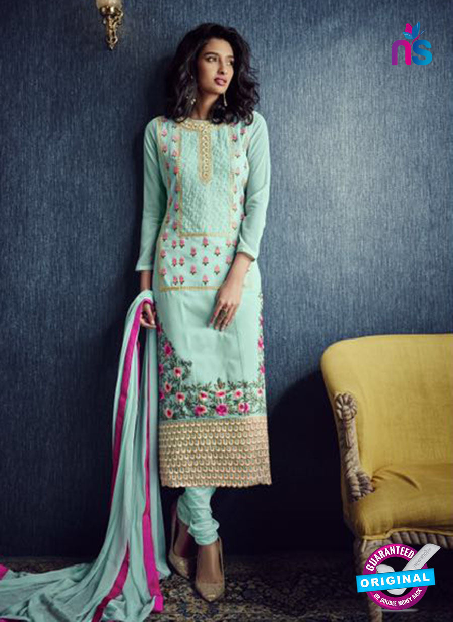 AZ 2317 Sea Green Georgette Party Wear Suit