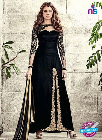 Maskeen 3802 Black Velvet Party Wear Suit