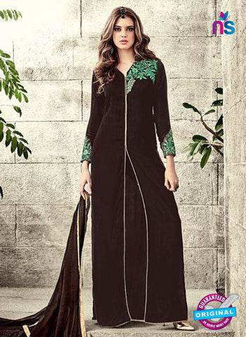 Maskeen 3804 Brown Velvet Party Wear Suit