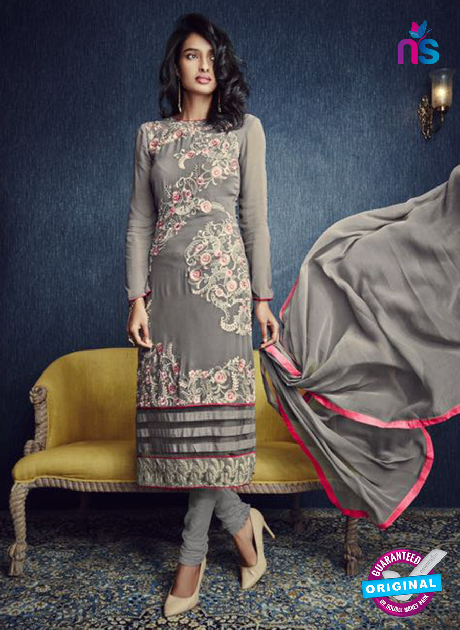 AZ 2320 Grey Georgette Party Wear Suit