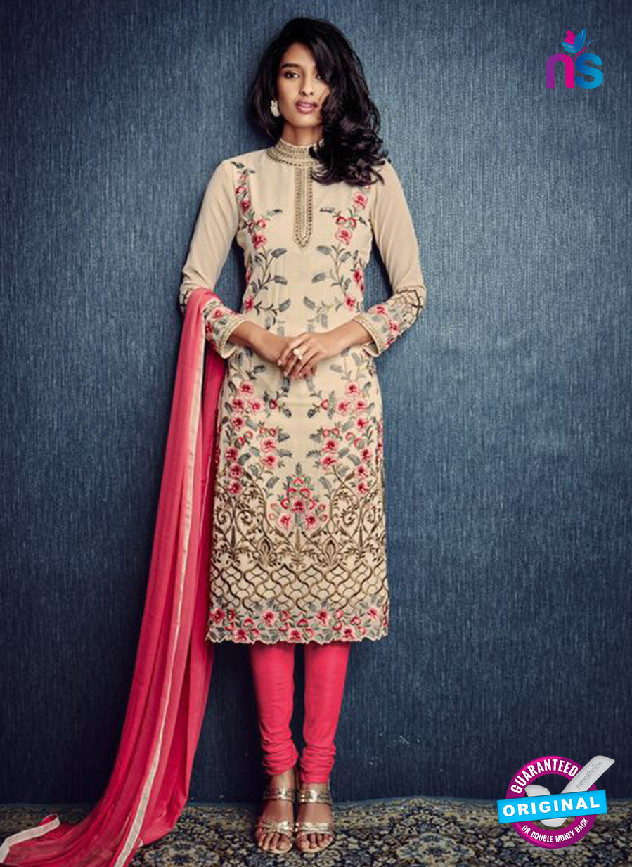 AZ 2321 Beige and Pink Georgette Party Wear Suit