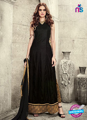 Maskeen 3806 Black Velvet Party Wear Suit