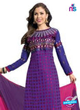 NS12275 Purple and Pink Straight Suit
