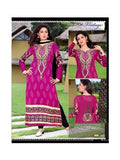 NS11863  Magenta and Black Georgette Straight Suit