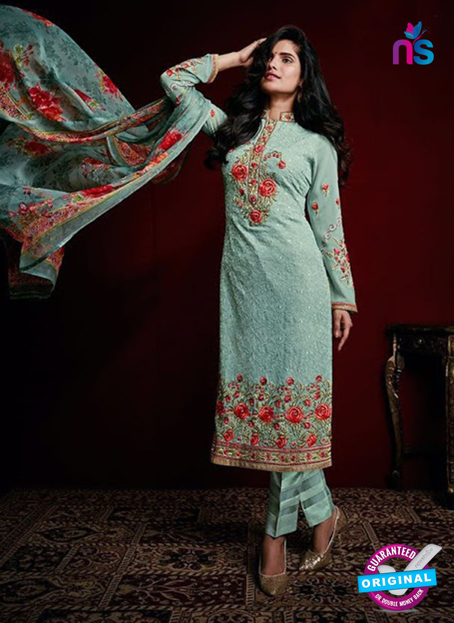 AZ 3518 Sea Green Georgette Party Wear Suit - Salwar Suits - NEW SHOP