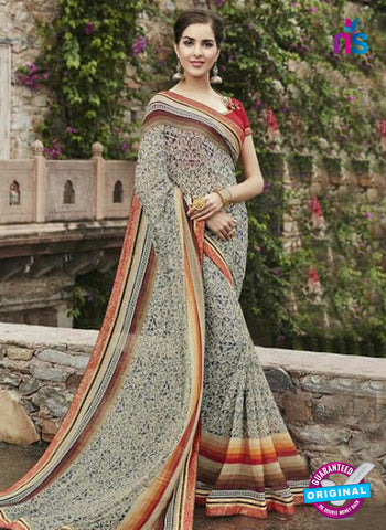 AZ 3718 Beige Georgette Formal Saree