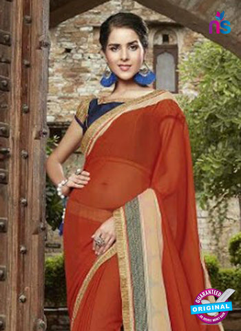 AZ 3719 Orange Georgette Formal Saree