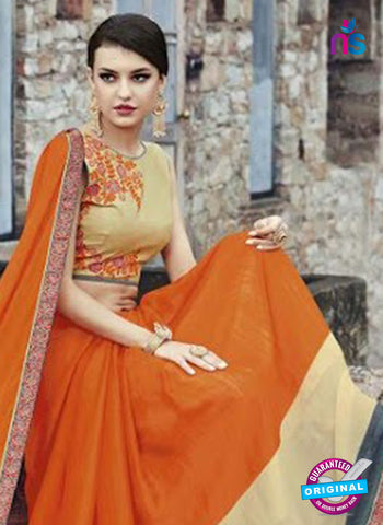 AZ 3721 Orange Georgette Formal Saree