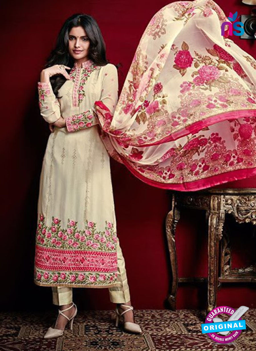 AZ 3522 Beige Georgette Party Wear Suit
