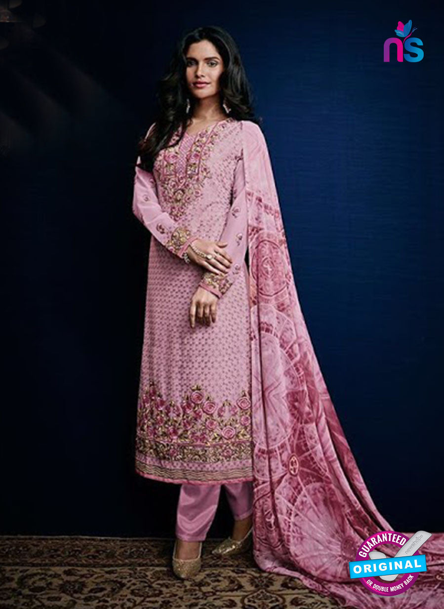AZ 3523 Pink Georgette Party Wear Suit
