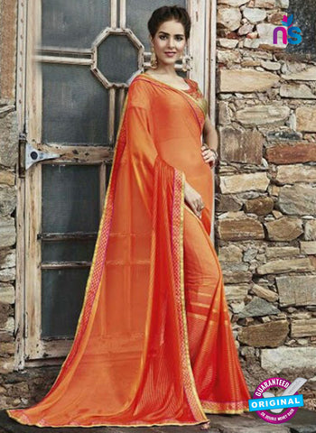 AZ 3724 Orange Georgette Formal Saree