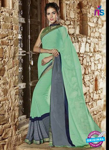 AZ 3725 Green Georgette Formal Saree