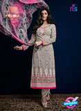 AZ 3525 Grey Georgette Party Wear Suit
