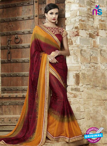 AZ 3726 Maroon Georgette Formal Saree