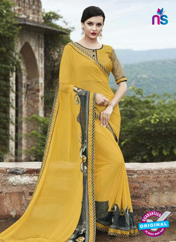 AZ 3728 Yellow Georgette Formal Saree