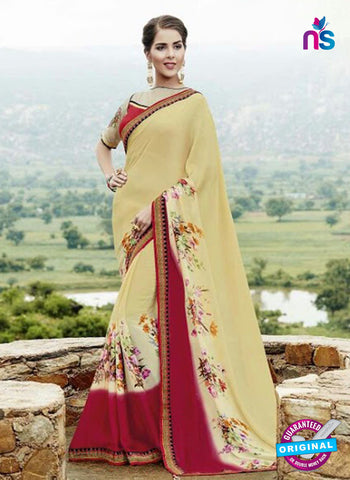 AZ 3729 Beige Georgette Formal Saree