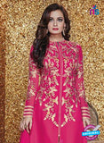 SC 13322 Pink Embroidered Georgette Designer Suit