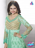 Vinay Fashion 3933 Seagreen and Golden Georgette Designer Gawn