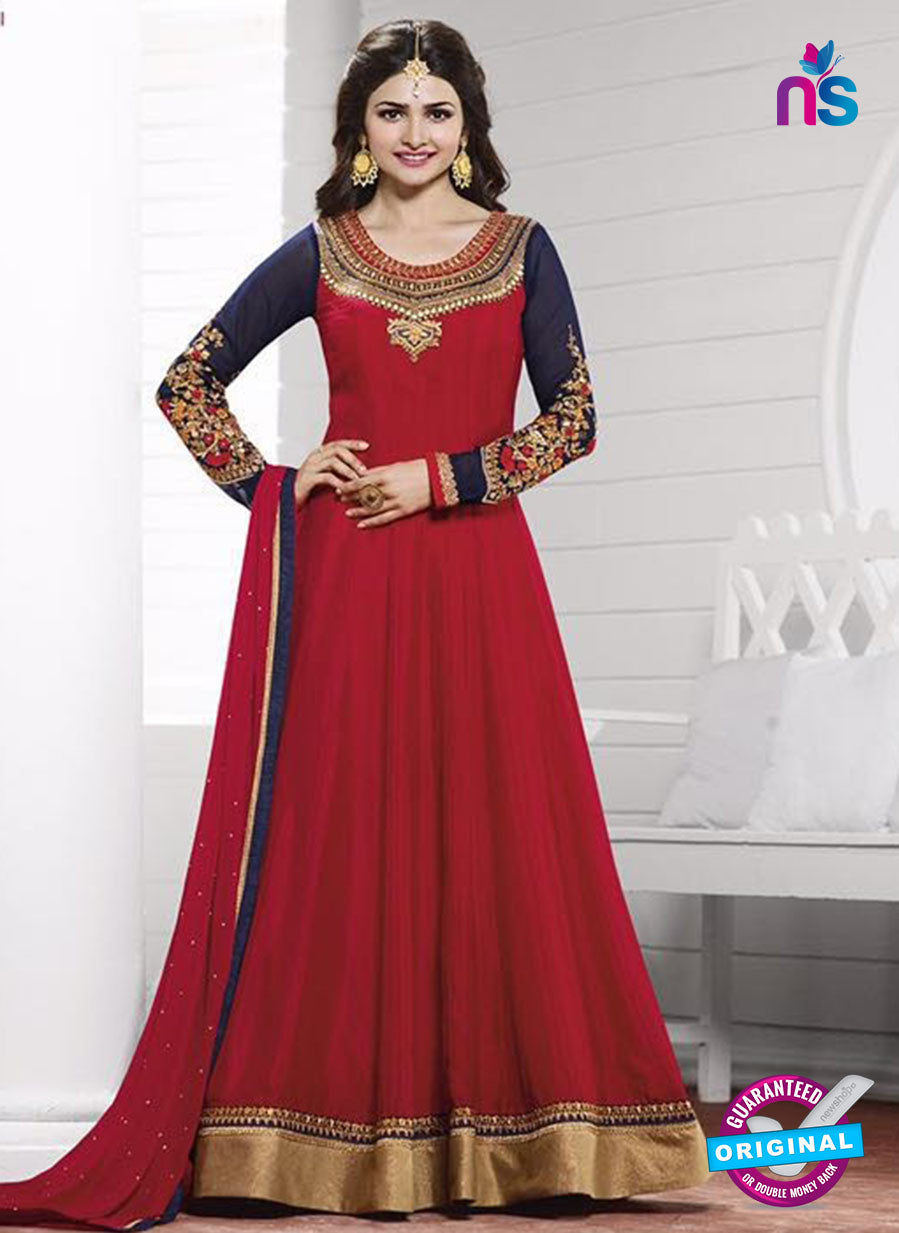 Vinay Fashion 3934 Blue and Maroonn Georgette  Designer Gawn