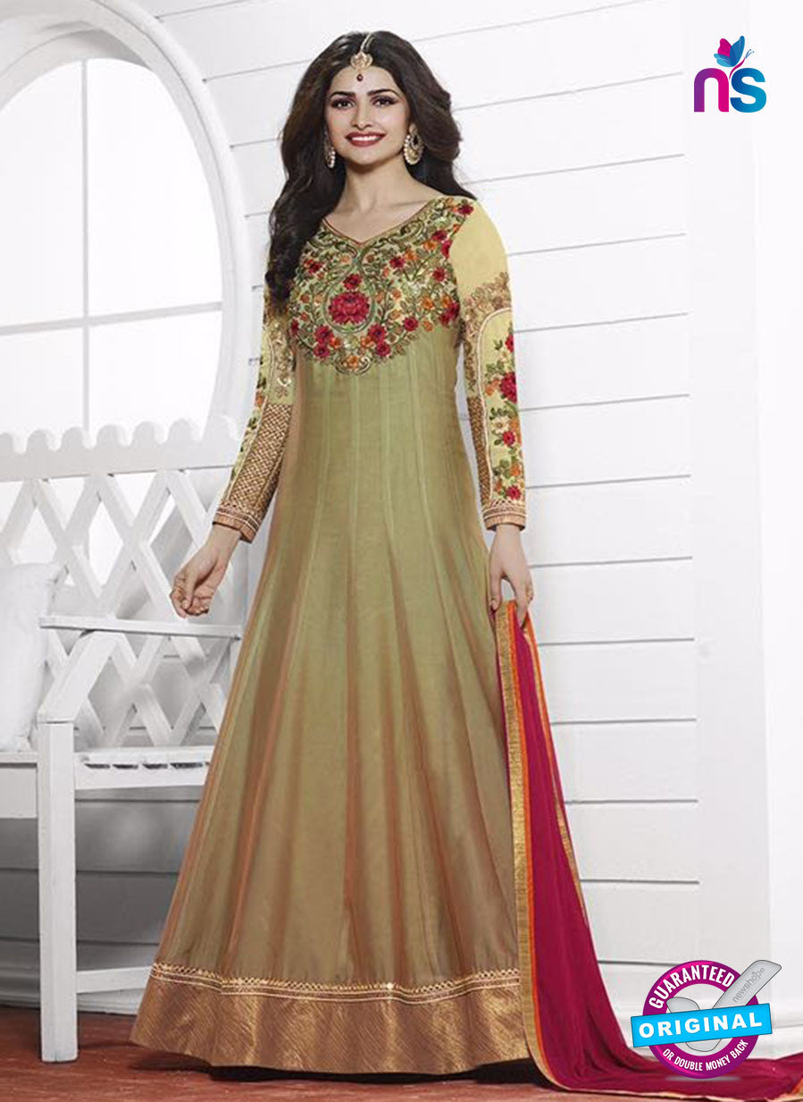 Vinay Fashion 3935 Beige and Pink Georgette  Designer Gawn